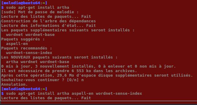 sudo apt install artha aspell-en wordnet-sense-index