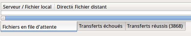 Transfert de fichiers complété