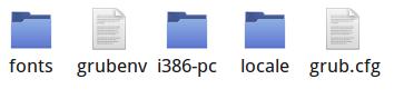 Fichier grub.cfg sous /boot/grub